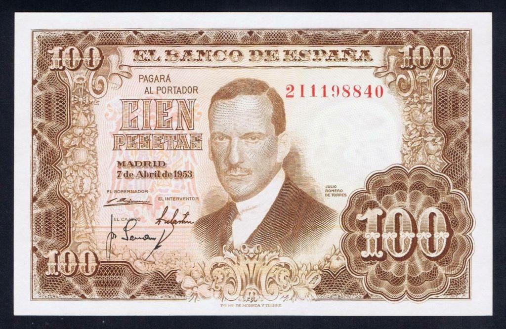 Investigación - Billetes de 100 pts 1953 Romero de Torres 2i10