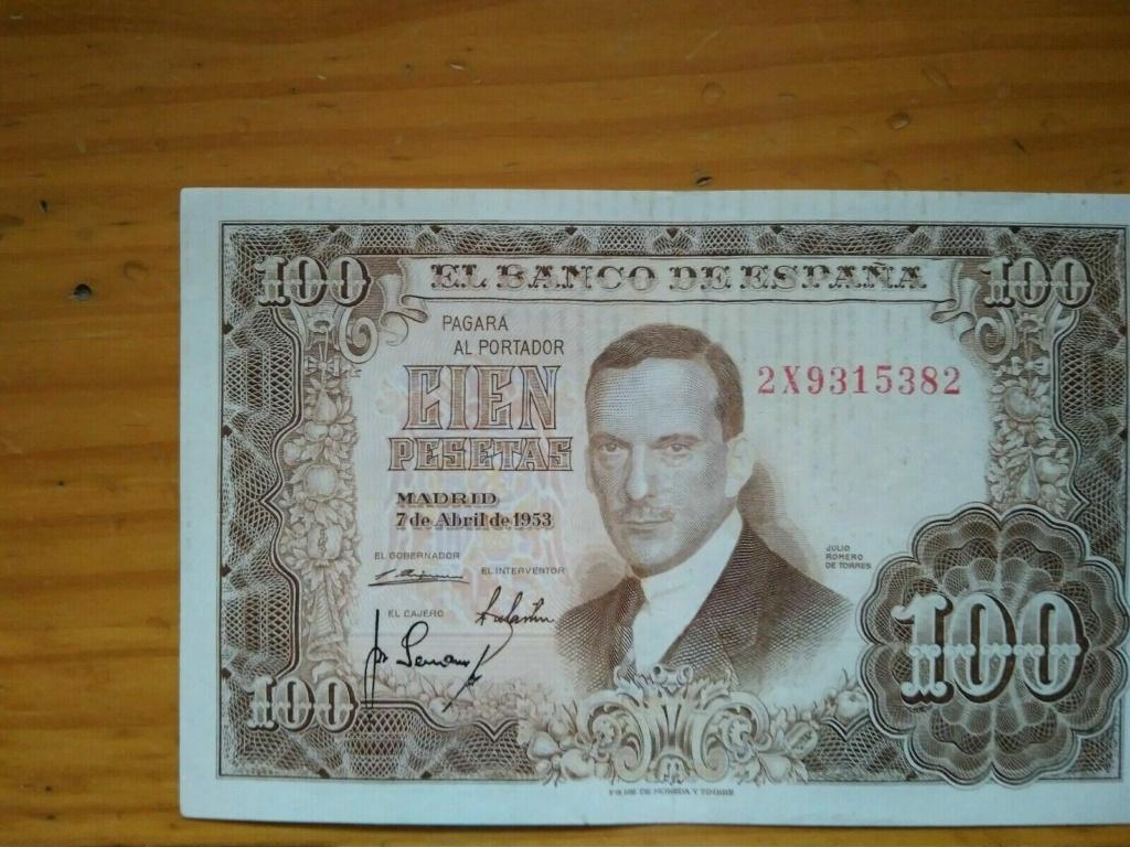 Investigación - Billetes de 100 pts 1953 Romero de Torres 2x10