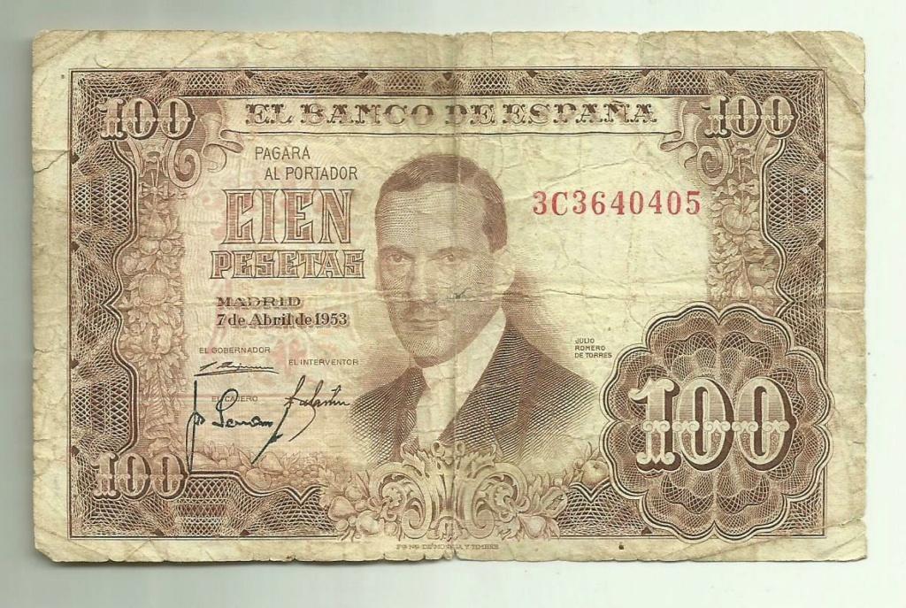 Investigación - Billetes de 100 pts 1953 Romero de Torres 3c10
