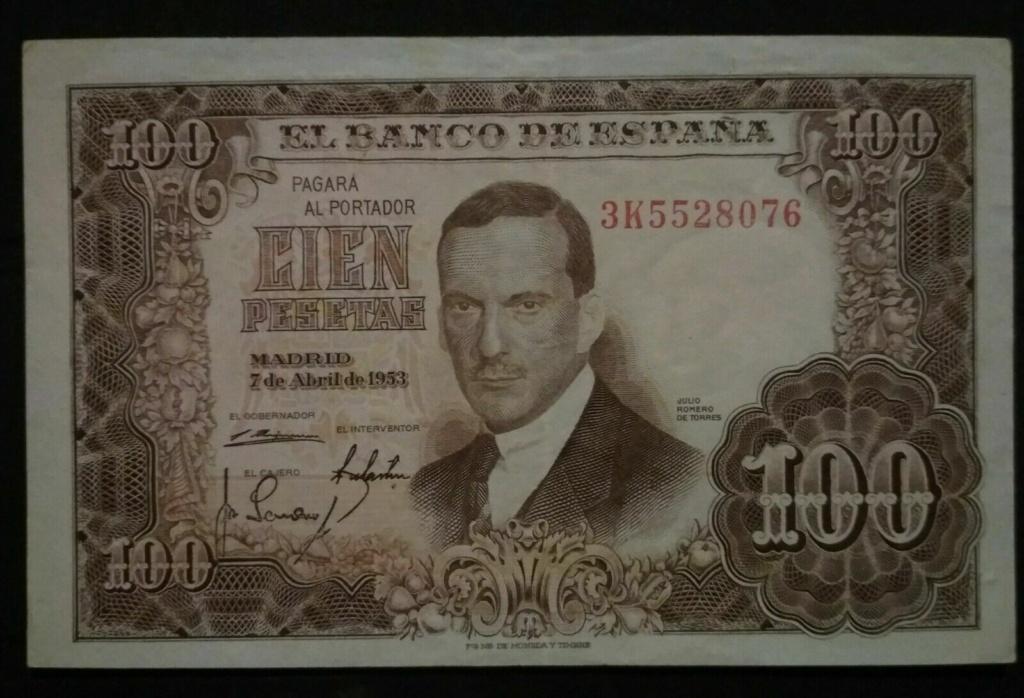 Investigación - Billetes de 100 pts 1953 Romero de Torres 3k10