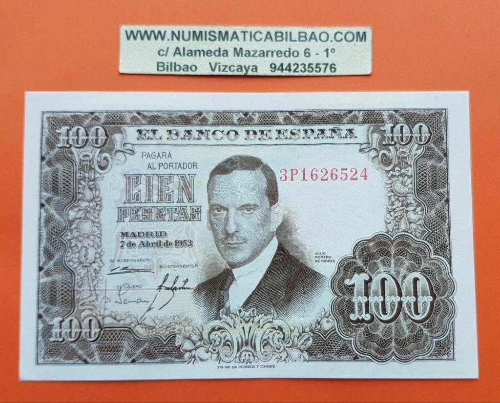 Investigación - Billetes de 100 pts 1953 Romero de Torres 3p10