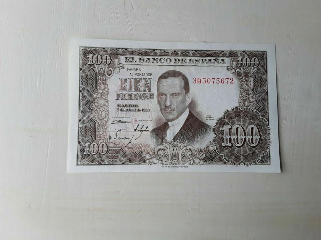 Investigación - Billetes de 100 pts 1953 Romero de Torres 3q10