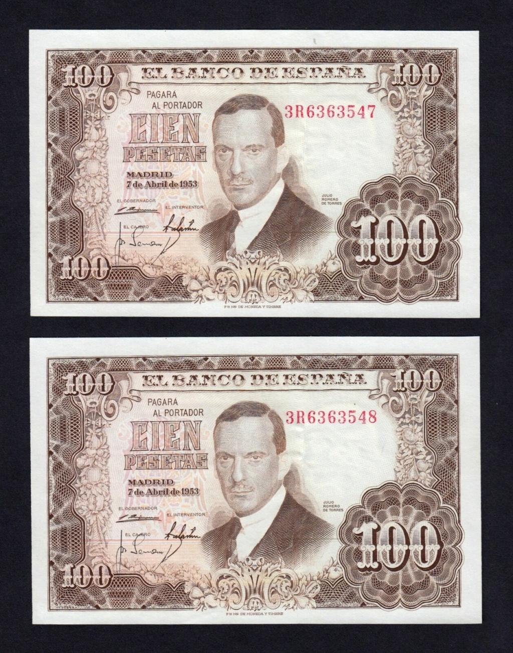 Investigación - Billetes de 100 pts 1953 Romero de Torres 3r10