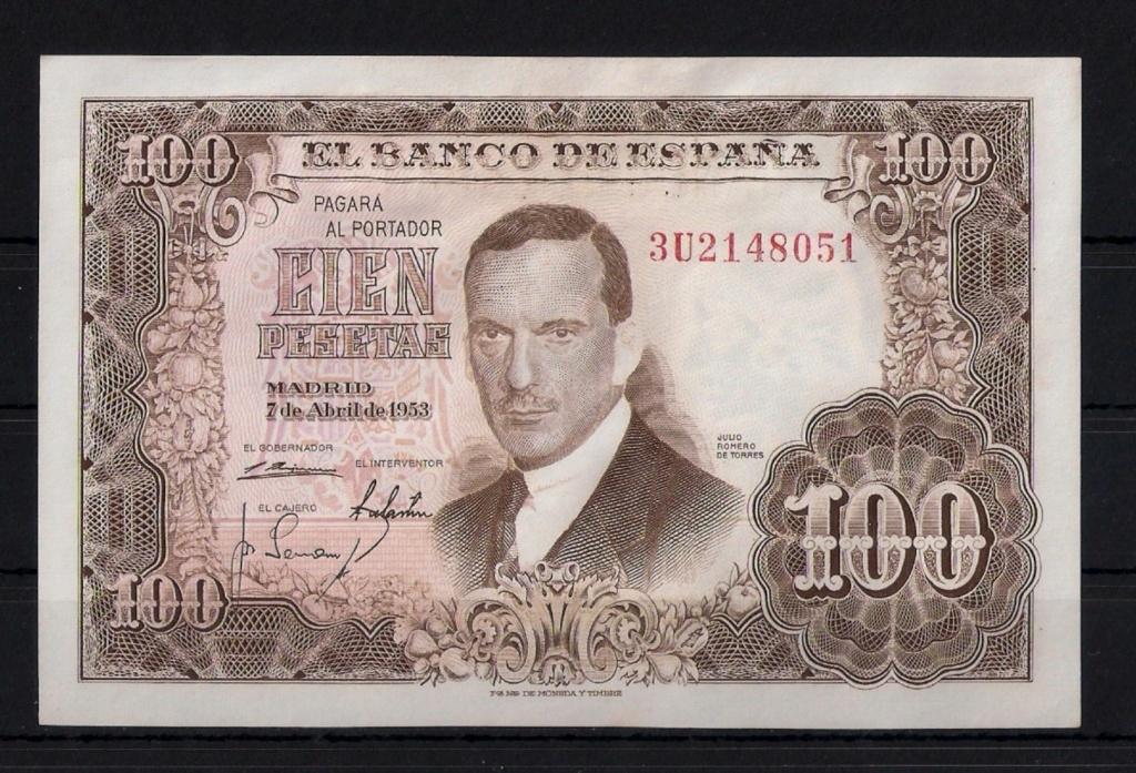 Investigación - Billetes de 100 pts 1953 Romero de Torres 3u10
