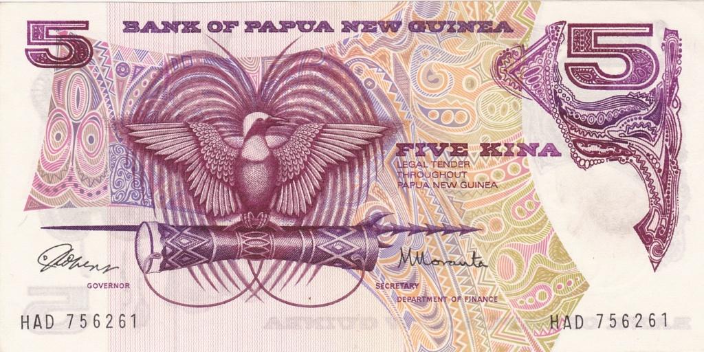 ¿Se pueden coleccionar todos los billetes de un país? PAPUA NUEVA GUINEA 5_kina11