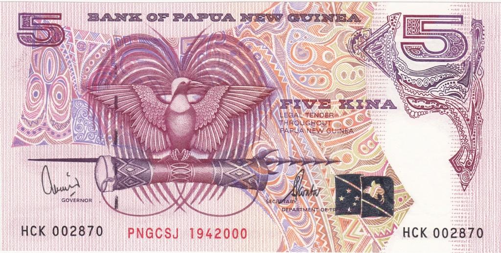 ¿Se pueden coleccionar todos los billetes de un país? PAPUA NUEVA GUINEA 5_kina28