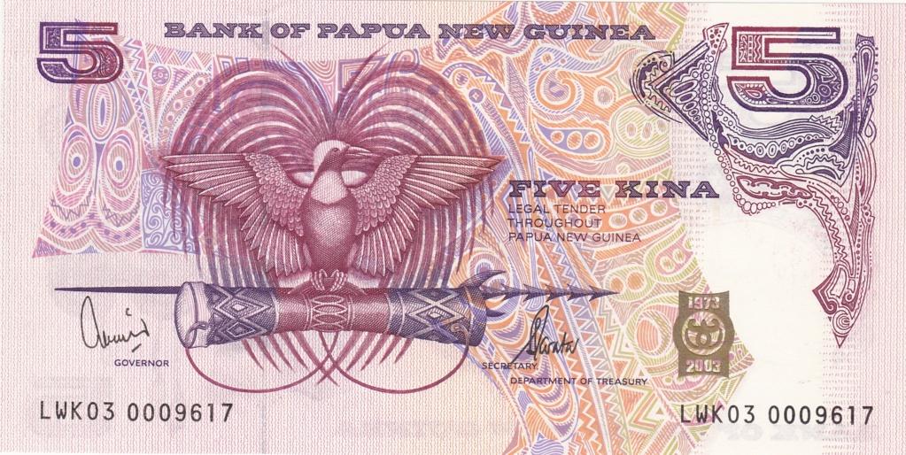 ¿Se pueden coleccionar todos los billetes de un país? PAPUA NUEVA GUINEA 5_kina34