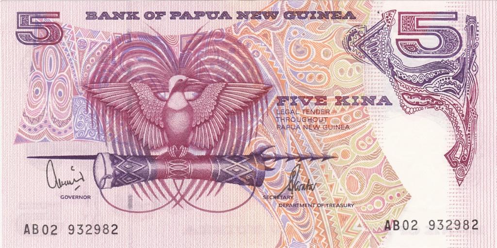 ¿Se pueden coleccionar todos los billetes de un país? PAPUA NUEVA GUINEA 5_kina36