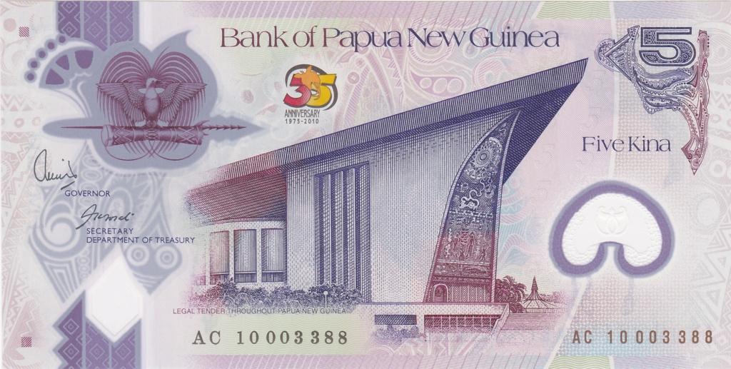 ¿Se pueden coleccionar todos los billetes de un país? PAPUA NUEVA GUINEA 5_kina45