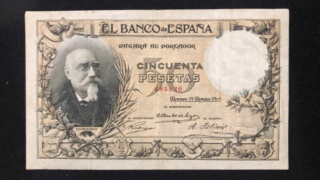 50 Pesetas 1905 - Echegaray (Vergüenzas) 68552010