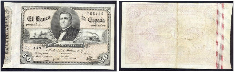 50 pesetas 1 de julio 1884 76843910