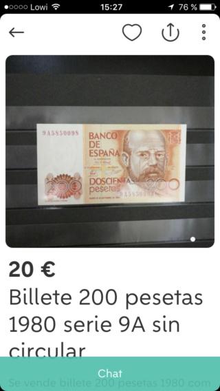 Número más bajo/alto de... 200 pesetas 1980 Serie 8 y 9 9a_910