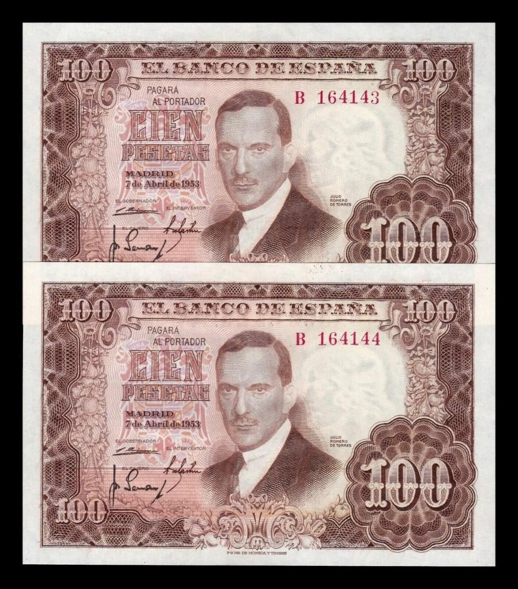 Investigación - Billetes de 100 pts 1953 Romero de Torres B10