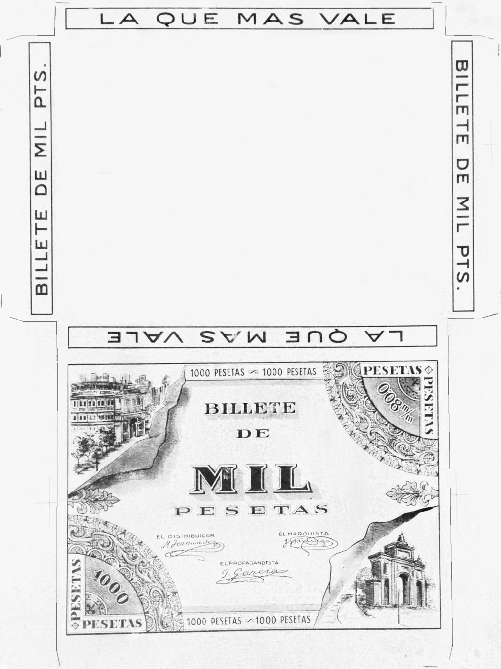 Piedra litográfica con diseño de billete publicitario Img-2010
