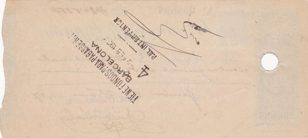 Banco de España - Cheque 1927 Img_2032