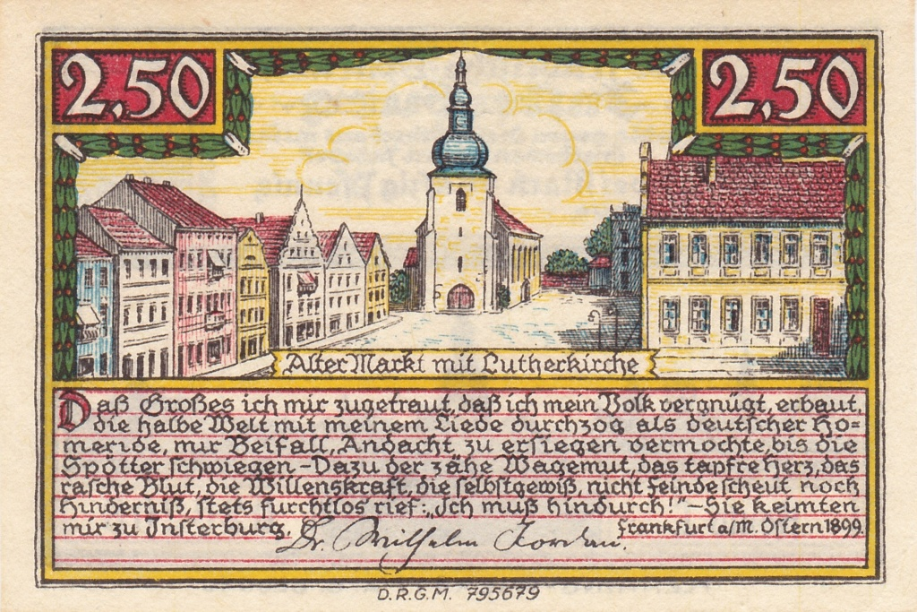 Notgeld del Báltico Inster17