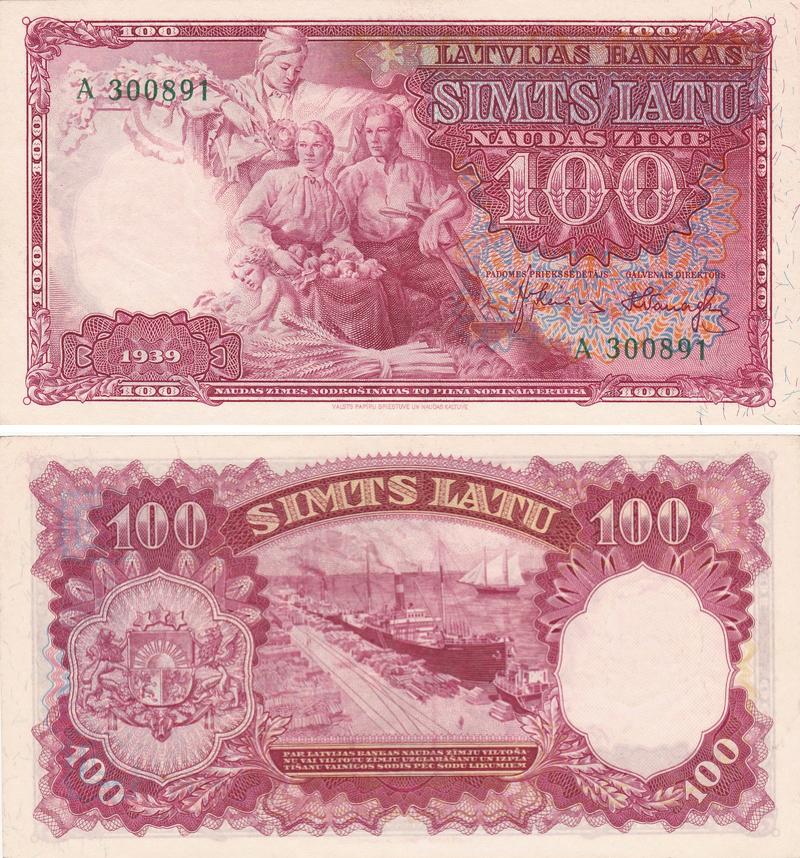 Billetes y papel-moneda; exposición-concurso Letoni12