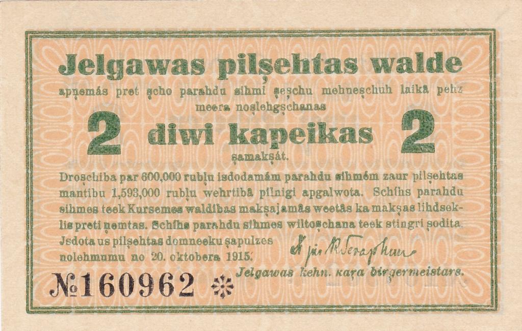 Letonia - 2 Kopeks 1915 - Jelgava/Mitau - Dos variantes Letoni19