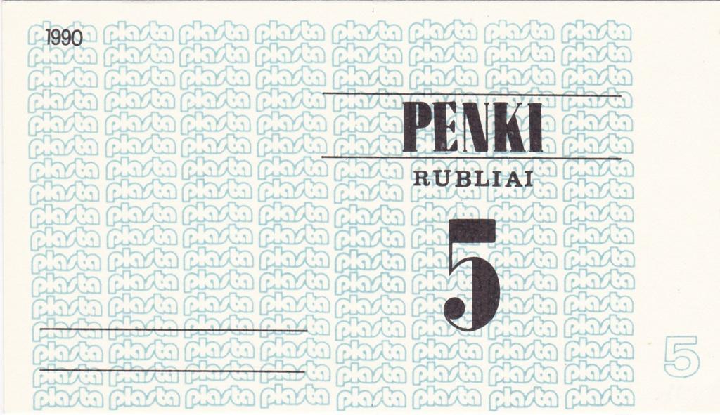 Billetes Plasta Lituan13