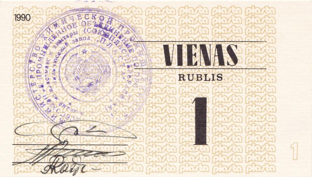Billetes Plasta Lituan16