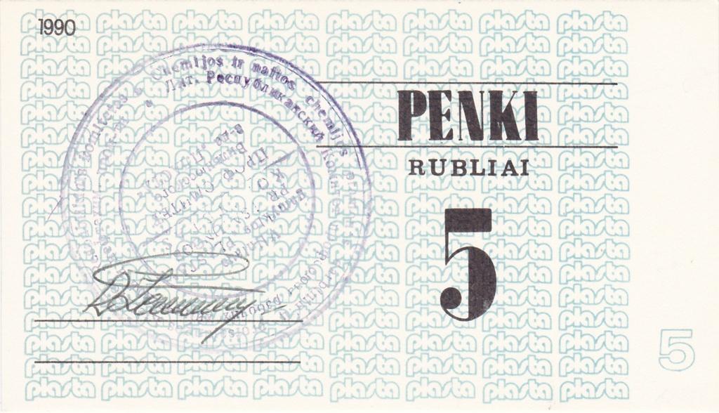 Billetes Plasta Lituan17