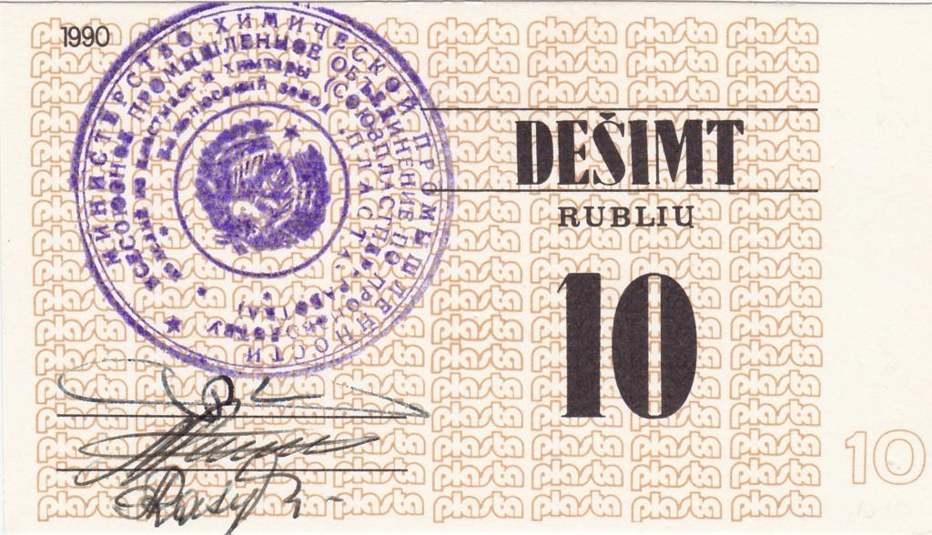 Billetes Plasta Lituan19