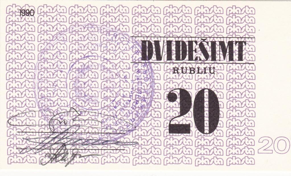 Billetes Plasta Lituan20