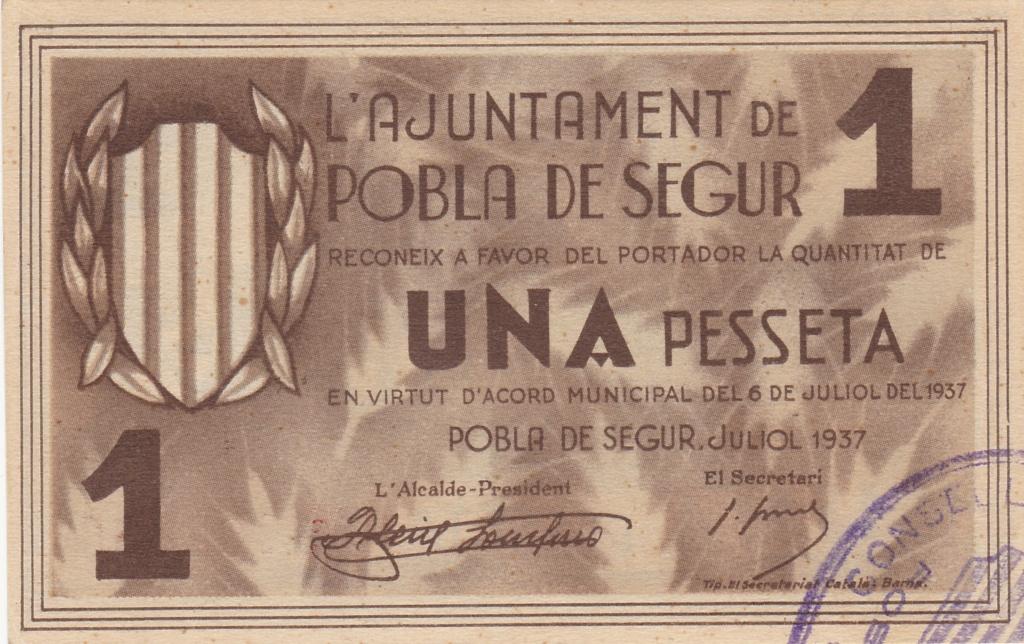 Pobla de Segur (julio 1937) - 1 peseta Pobla_10