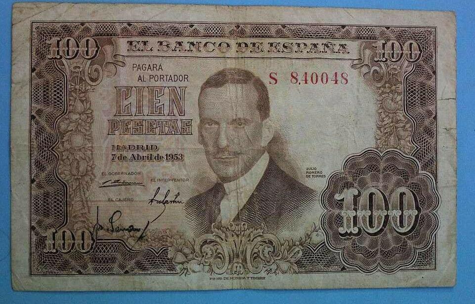 Investigación - Billetes de 100 pts 1953 Romero de Torres S10