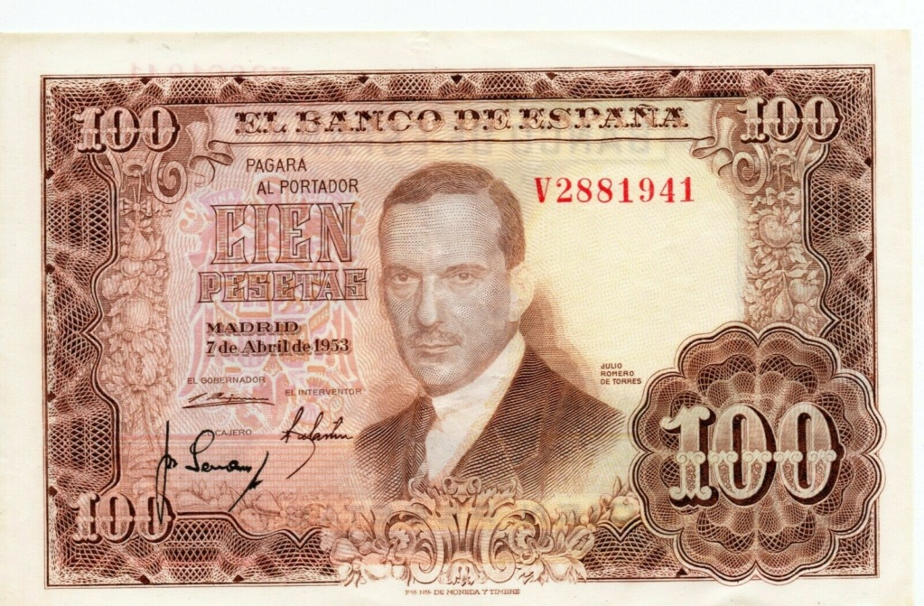 Investigación - Billetes de 100 pts 1953 Romero de Torres V10