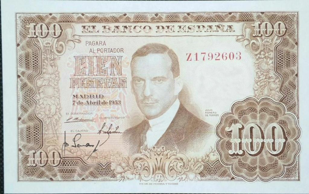 Investigación - Billetes de 100 pts 1953 Romero de Torres Z10