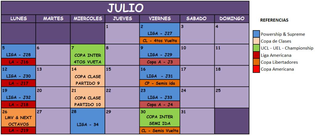 Liga Manager Virtual Julio11