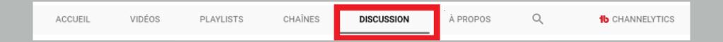 """Utilisez vous l'onglet """" discussion"""" sur YouTube? Tempsn10"""
