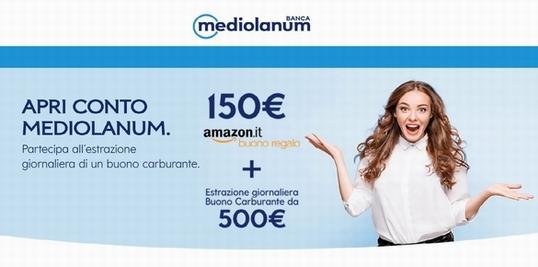 BANCA MEDIOLANUM regala BUONO AMAZON € 150 [promozione scaduta il 26/10/2018] Immagi10