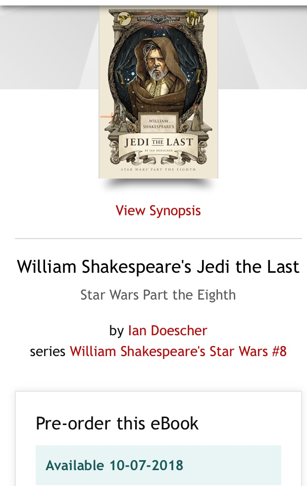 The Last Jedi and the Shakespeare Novelizations - Page 3 656c0810