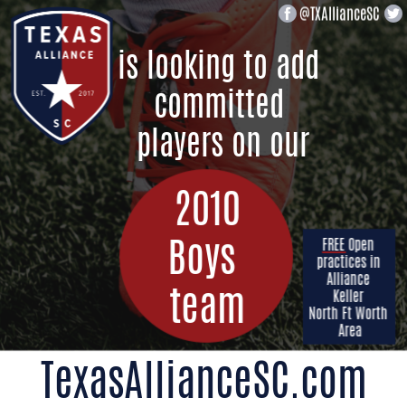 TX Alliance 2010 Boys *Roster Availability* - North FW Adding18