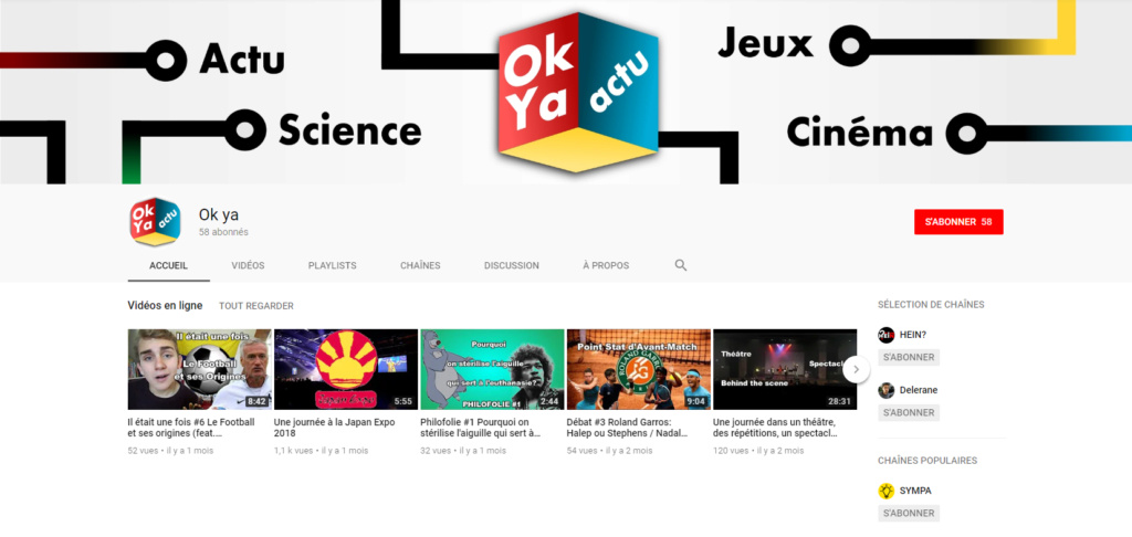 ★★★ Le Vidéaste à l'Honneur #7 | Ok Ya | Venez critiquer cette chaîne ! Captur21