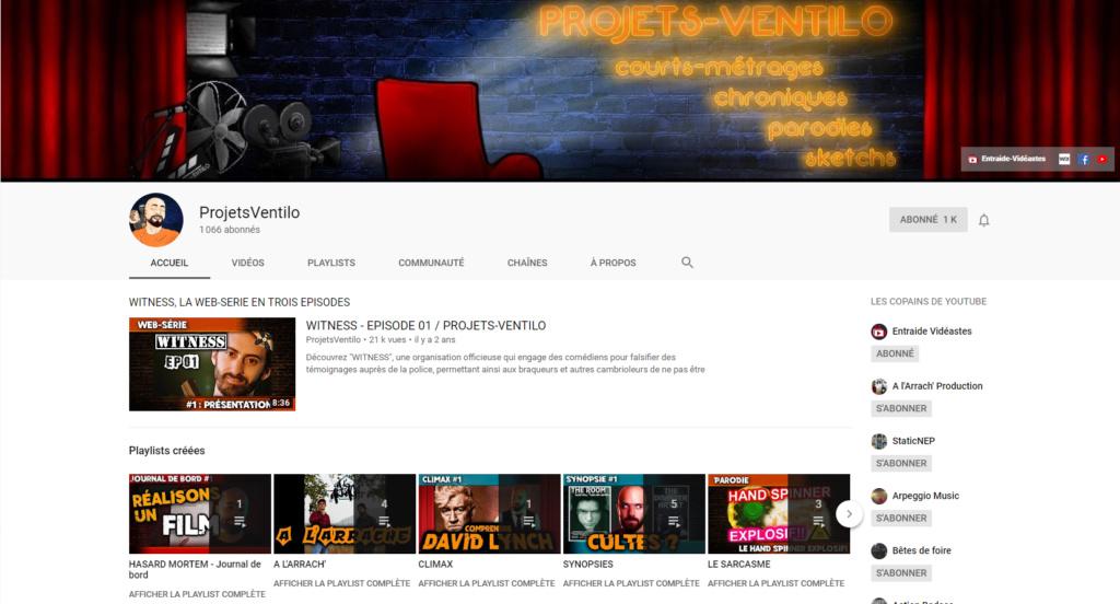 ★★★ Le Vidéaste à l'Honneur #27 | Projets-Ventilo | Venez critiquer cette chaîne ! Captur31