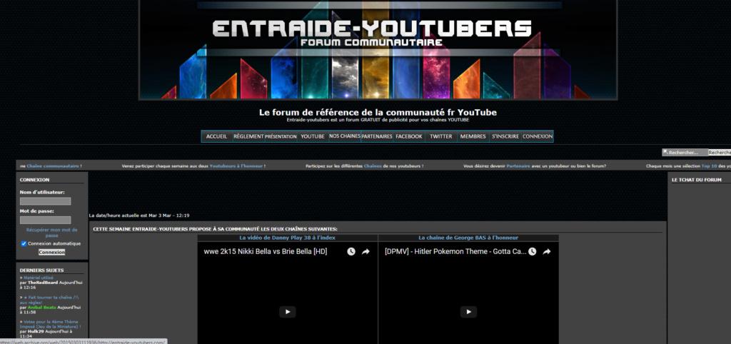 ✨ L'histoire d'Entraide-Vidéastes ! Quelle est la vôtre ? Ey201511
