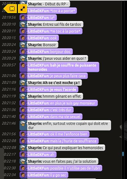 [C.H.U] Rapports d'Action RP de Shayrin Rp110