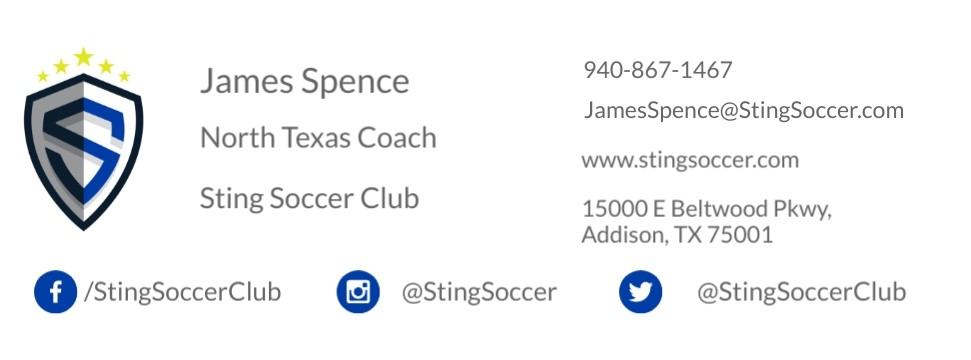 Sting 05 Alliance - Open Training Tonight Spence10