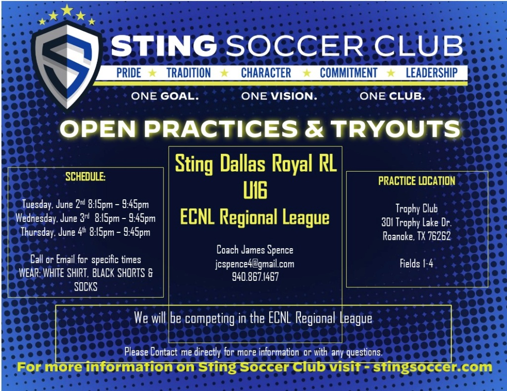 Sting Royal ECNL - Regional League - U16 Open Try Outs Sting_21