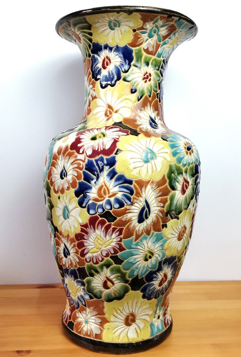 50cm Floral Vase curly C marka and a joke signature ooOOOooo interesting :) Img_2012