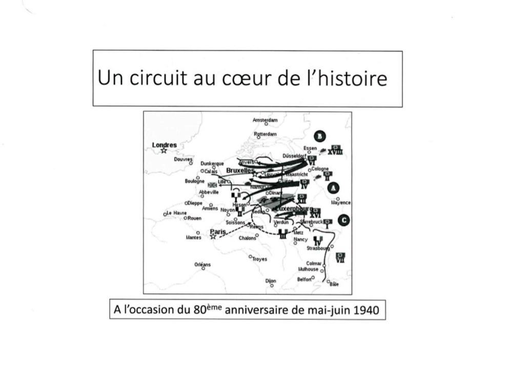 """Circuit """"La Mémoire des Poilus"""" - du 11 au 14 mai 1123"""