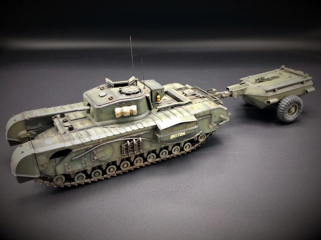 Churchill Crocodile Mk. VII w/ trailer _ Tamiya 1/35  Img_e961