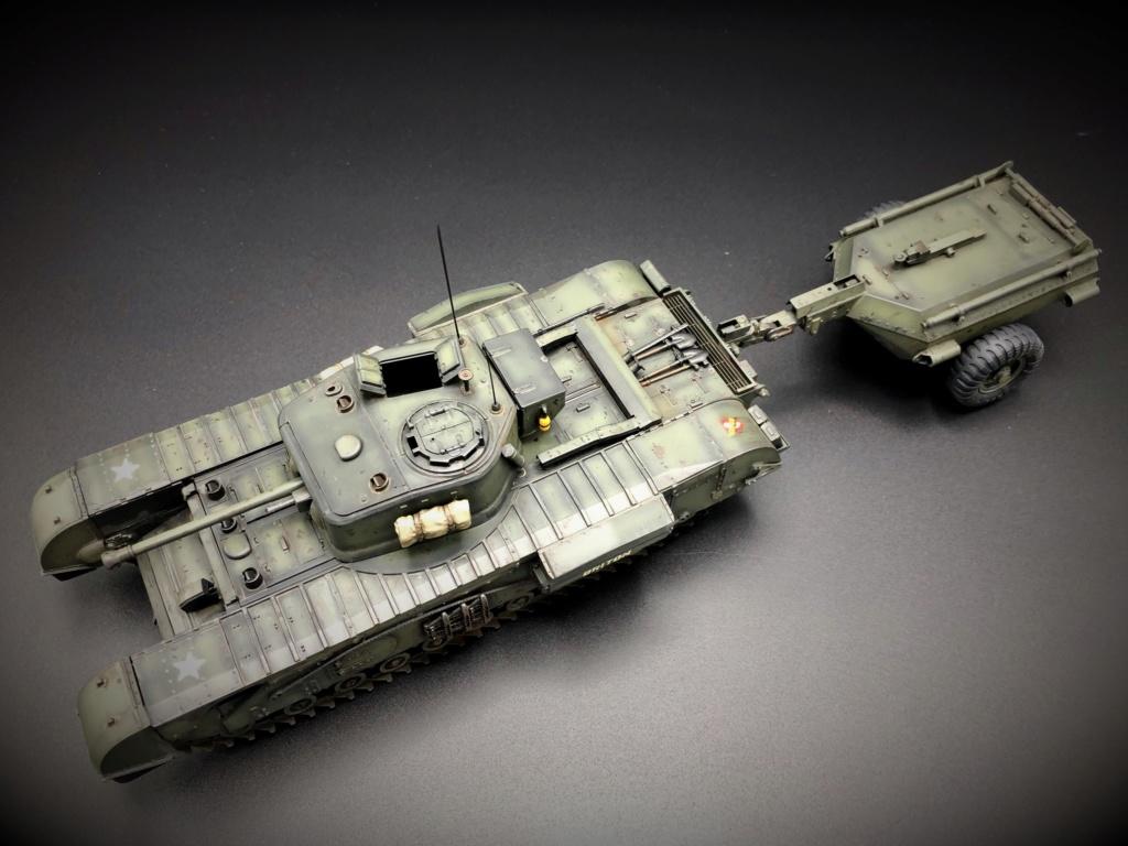Churchill Crocodile Mk. VII w/ trailer _ Tamiya 1/35  Img_e962