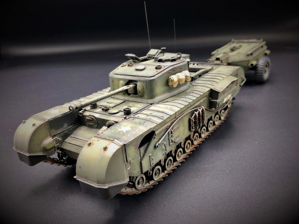 Churchill Crocodile Mk. VII w/ trailer _ Tamiya 1/35  Img_e963