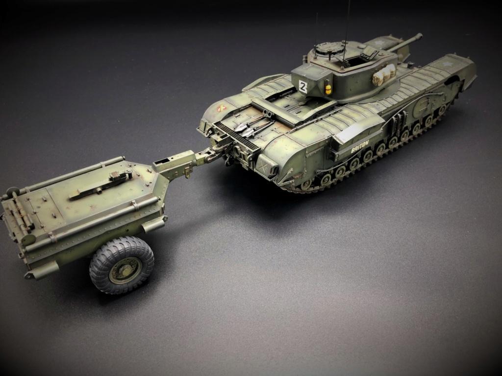 Churchill Crocodile Mk. VII w/ trailer _ Tamiya 1/35  Img_e964
