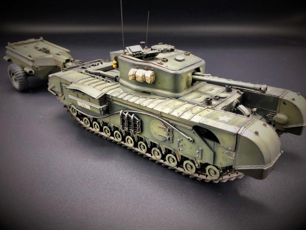 Churchill Crocodile Mk. VII w/ trailer _ Tamiya 1/35  Img_e965
