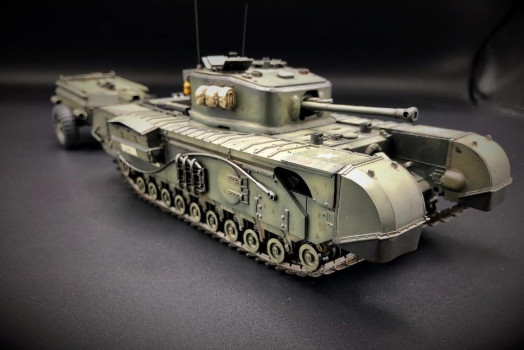 Churchill Crocodile Mk. VII w/ trailer _ Tamiya 1/35  Img_e970